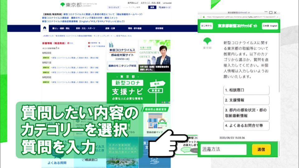 人口工知能が内容を分析し適切な回答を提供 「東京都新型コロナチャットボットサービス」開始 ニフティニュース