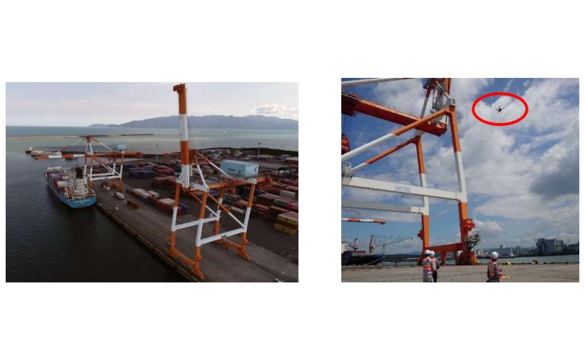 港湾クレーンでの点検作業、ドローンの撮影画像をAIが解析 発錆検知の自動化へ | Ledge.ai