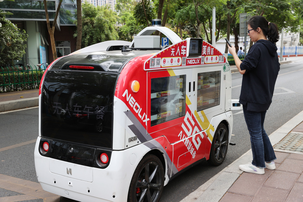 5GとAI搭載の食事宅配車両登場 福建省アモイ市   写真8枚 国際ニュース:AFPBB News