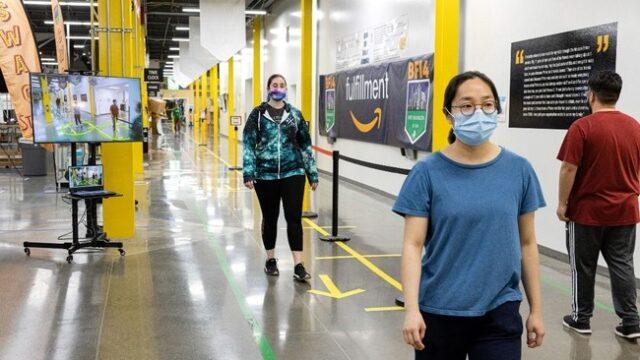 Amazon、AIを活用した「ディスタンス・アシスタント」を日本の物流拠点に配備:時事ドットコム